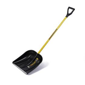 Лопата пластиковая, ковш 400 × 410 мм, с металлической планкой, металлический черенок, с ручкой, СПРИНТ «Памир»