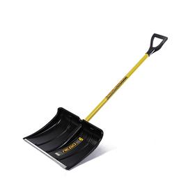 Лопата пластиковая, ковш 370 × 500 мм, с металлической планкой, металлический черенок, с ручкой, СПРИНТ «Ледо»