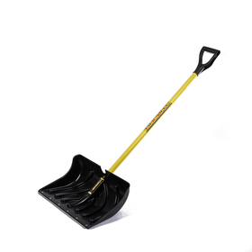Лопата пластиковая, ковш 350 × 510 мм, с металлической планкой, металлический черенок, с ручкой, СПРИНТ «Домбай»