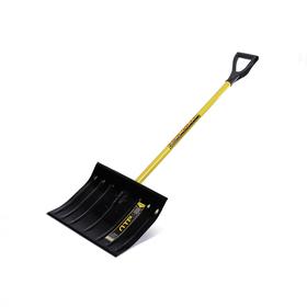 Лопата металлическая радиусная, ковш 360 × 440 мм, металлический черенок, с ручкой