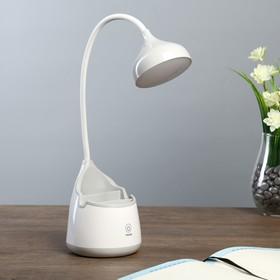 """Лампа настольная """"Сапфир"""" АКБ USB 6Вт серый 20х10х33 см."""
