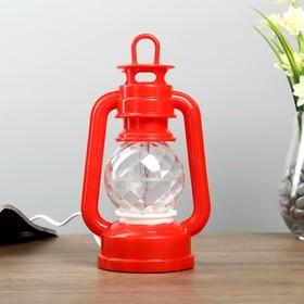 """Ночник """"Часы"""" LED МИКС (красный,синий) 12x8,5x23 см"""