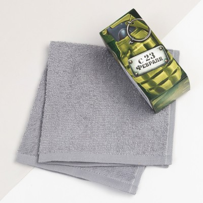 """The towel in the box """"23 February"""" 30x30cm, 100% cotton"""