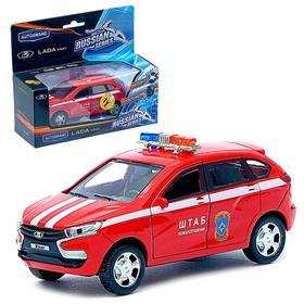 Машина металлическая «Lada Xray. Спец. назначения» звуковые и световые эффекты, масштаб 1:36, цвета МИКС
