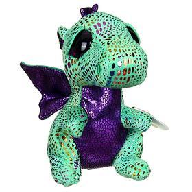 Мягкая игрушка «Дракон Cinder», цвет зелёный, 15 см
