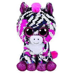 Мягкая игрушка «Зебра Zoey», цвет розовый, в пайетках, 15 см