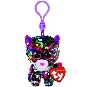 Мягкая игрушка-брелок «Леопард Dotty», разноцветный в пайетках, 10 см
