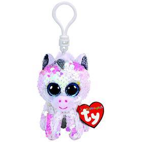 Мягкая игрушка-брелок «Единорог Diamond», цвет белый в пайетках, 10 см