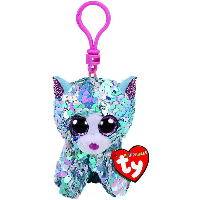Мягкая игрушка-брелок «Кот Whimsy», цвет синий, в пайетках, 10 см