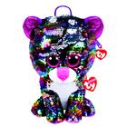 Мягкая игрушка-рюкзак «Кошечка Dotty» разноцветная, с пайетками