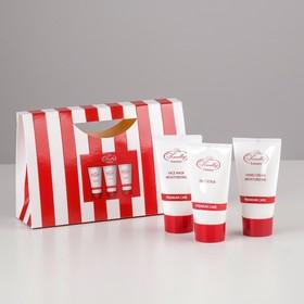 Подарочный набор Liss Kroully Red&White: крем для рук + маска для лица + скраб для лица