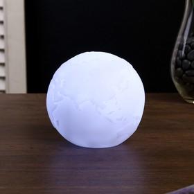 "Ночник ""Планета"" LED батарейки LR14 белый 8,5х8,5х9 см."