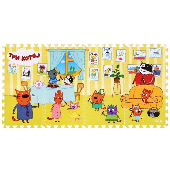 Коврик-пазл «Три кота» 8 элементов, в пакете - фото 105594492