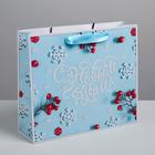 Пакет ламинированный горизонтальный «Счастливого Нового года», ML 8 × 27 × 23 см