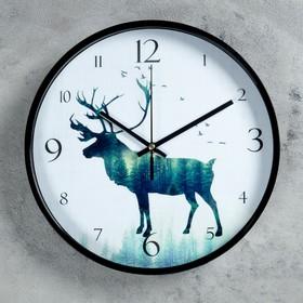 """Часв настенные, серия: Животный мир, """"Вилмингтон"""", черные,  d=30 см"""