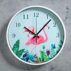 """Часв настенные, серия: Животный мир, """"Фламинго"""", d=30 см"""