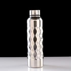 Water bottle travel, 750 ml, 7x24 cm, chrome