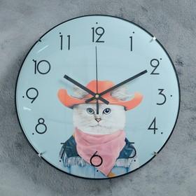 """Часы настенные, серия: Детские, """"Ковбой"""", d=30 см"""
