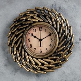 """Часы настенные, серия: Интерьер, """"Арсенал"""", d=12 см, 26х26 см, плавный ход"""