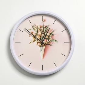 """Wall clock, series: Interior, """"Carroll"""", d=30 cm, white"""
