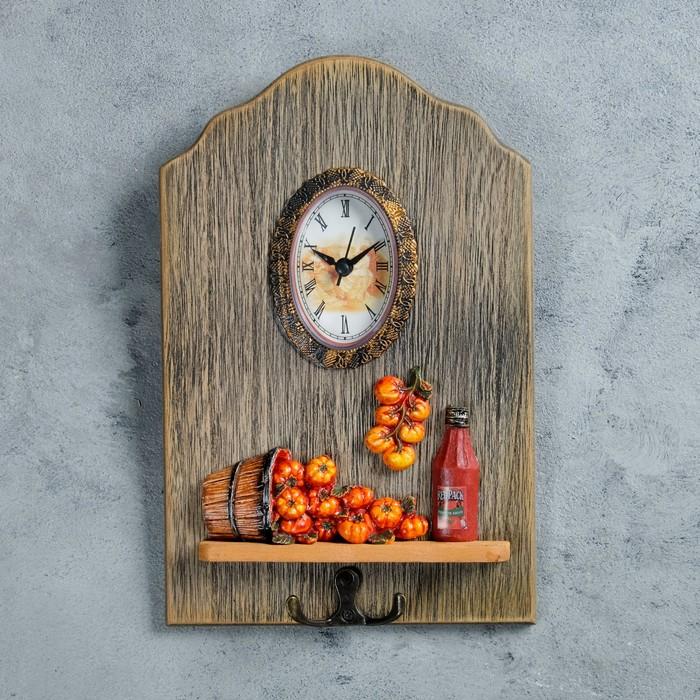 """Часы настенные, серия: Кухня, """"Сатама"""", с крючком, 26х17 см"""