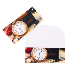 """Конверт для денег """"Универсальный"""" часы, ручка"""