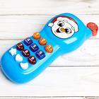 Телефончик музыкальный «Весёлый снеговик» свет, звук, цвета МИКС - фото 1043892