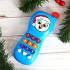 Телефончик музыкальный «Весёлый снеговик» свет, звук, цвета МИКС - фото 1231957