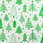Бумага упаковочная глянцевая «Новогодний лес», 0.68 × 7 м