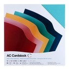 Гладкий кардсток American Craft «Jewel tones», 30.5х30.5 см,  60 листов