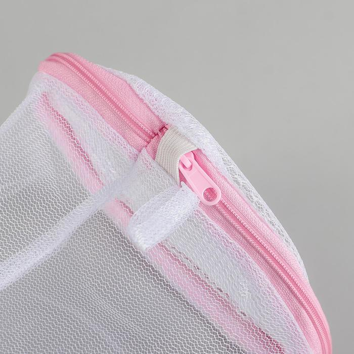 Мешок для стирки белья однослойный, мелкая сетка