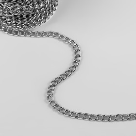 Chain iron flat 5,5*7,5 mm 10±0.5 m silver AU