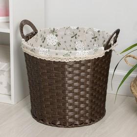 Корзина универсальная плетёная «Полянка», цвет коричневый