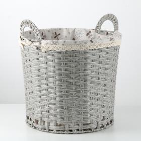Корзина универсальная плетёная Доляна «Полянка», 40×40×41 см, цвет серый
