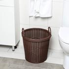 Корзина универсальная плетёная «Ультра», 37×37×37 см, цвет тёмно-коричневый