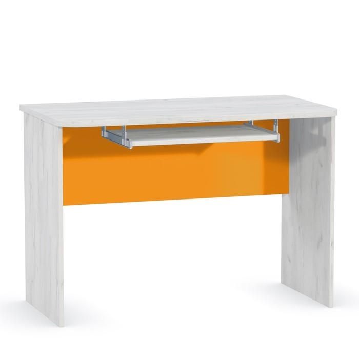 Стол Тетрис 344, 1072х582х740, Дуб белый крафт/Оранжевый