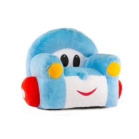 Кресло «Машинка» мягкая игрушка, цвет голубой
