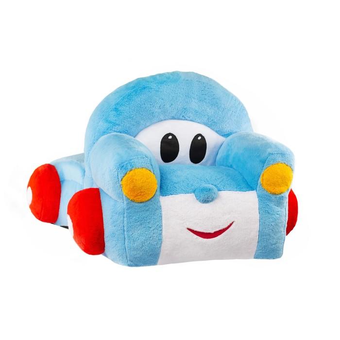 Кресло «Грузовичок» мягкая игрушка, цвет голубой