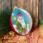 """Новогодний шар, фреска """"Дед Мороз и елочка"""""""
