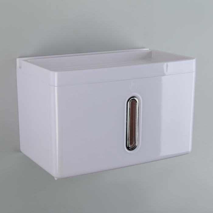 Диспенсер бумажных полотенец в листах 22×13,5×14,5 см, пластик, цвет белый