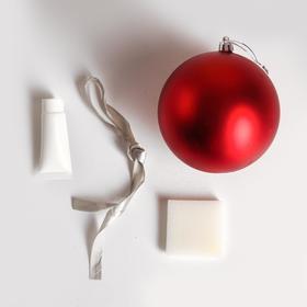 Набор для творчества. Новогодний шар «Отпечаток детской ручки», красный