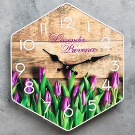 """Часы настенные, серия: Цветы, """"Тюльпаны"""", 33х30 см"""