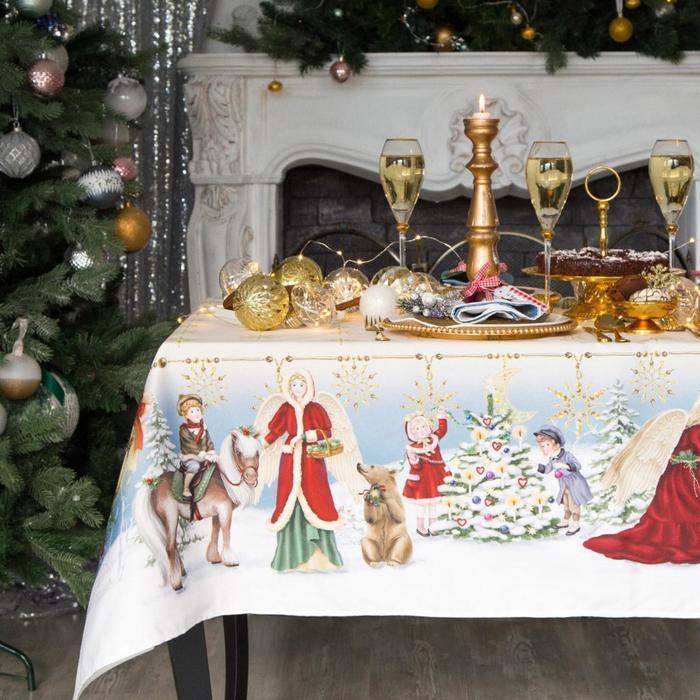 """Набор столовый Этель """"Christmas time"""" скатерть 110*150 см, салф. 40*40 см-4 шт, хл100%"""