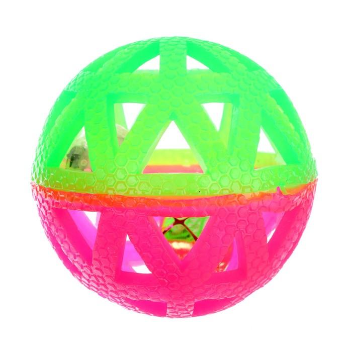 Мяч световой «Погремушка», цвета МИКС