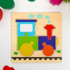 Игрушка развивающая пазл «Поезд» 0,3×15×15 см