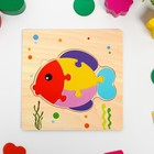 "Toy educational puzzle ""Fish"" 0,3х15х15 cm"