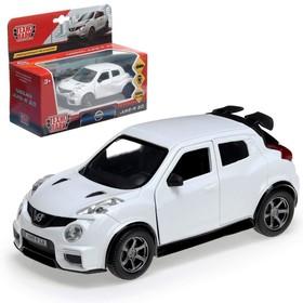 Машина металлическая NISSAN JUKE-R 2.0, 12 см, открывающиеся двери, инерционная, цвет белый