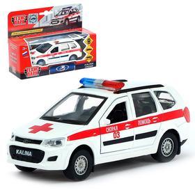 Машина металлическая «Lada Kalina Cross. Скорая» 12см, открываются двери, инерционная