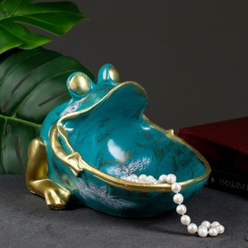 "Шкатулка для мелочей ""Лягушка"" зеленая 18х26см"