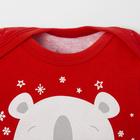 """Боди Крошка Я """"Новогодний медвежонок"""", красный, р.28, рост 86-92 - фото 105479250"""